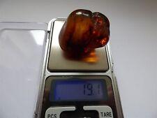 Antique Baltic Genuine Amber Big Stone 19g/ 4cm Natur Bernstein Polished