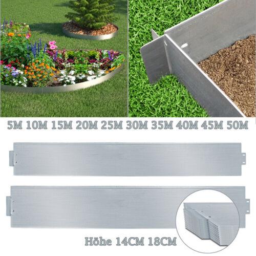 Rasenkante 5-50m Wurzelsperre Wegbegrenzung Metall Verzinkt Beetumrandung