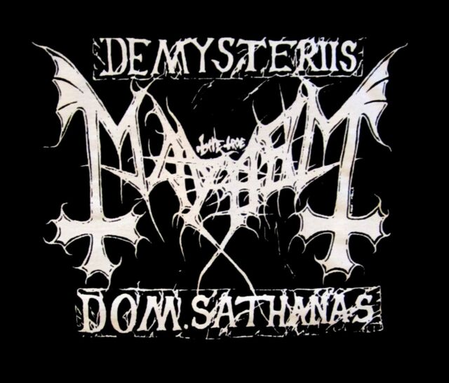 MAYHEM cd cvr ORTHODOX BLACK METAL Official SHIRT LRG New de mysteriis