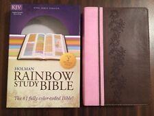 KJV Rainbow Study Bible - Brown / Pink Leathertouch - $59.99 Retail