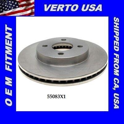Pontiac G5 /& Saturn  55083X1 Front Brake Rotor For Chevrolet Cobalt 4 Lugs