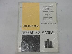 Cub Cadet 42 and 54 Spring Trip Blade Operator/'s manual