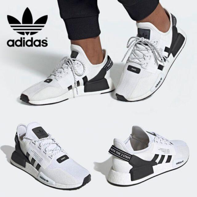 Mens Adidas Nmd R1 Core Black Grey White Uk Size 7.5