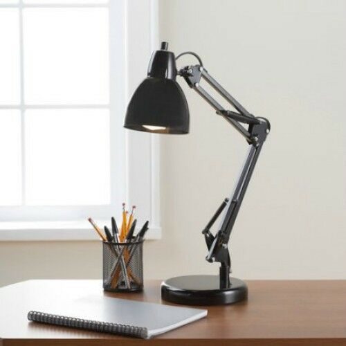 "MAINSTAYS 21.75/"" High Rich Black Finish Architect Reading Task Desk Lamp"