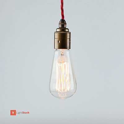 Dekorative Edison Glühbirne Edisonlampe wie Kohlefadenlampe E27 40 W, B-Ware