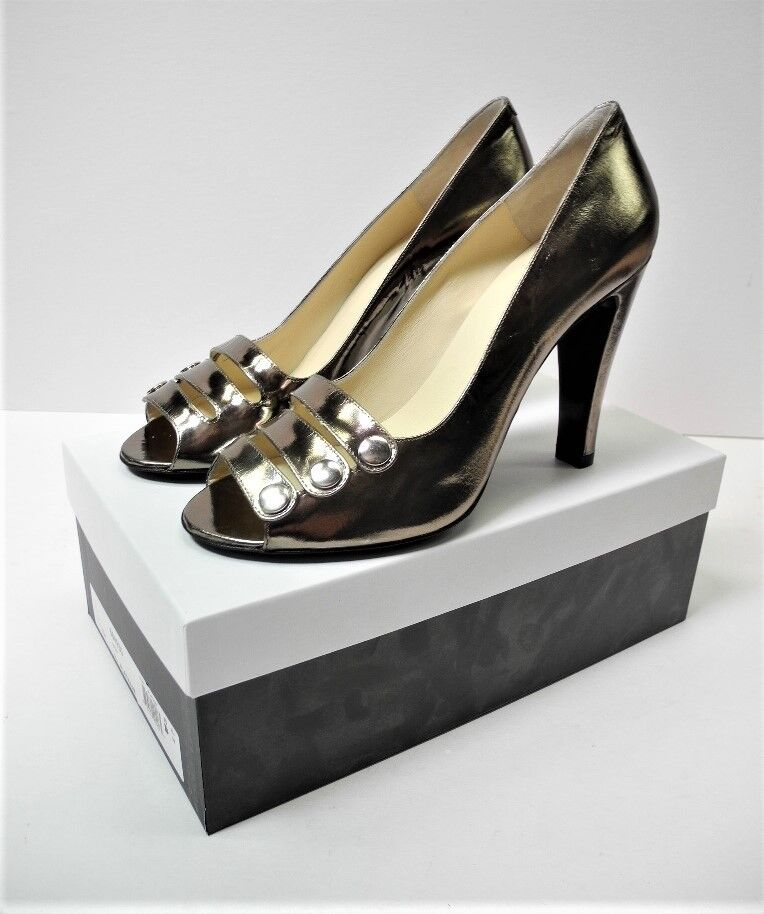 Womens Marc Marc Womens by MARC JACOBS Platinum Open-toe Heels 684930 Original box Size 40 f9a516