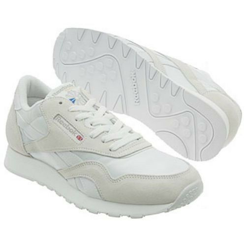 Reebok Classic Nylon 6390 White light Grey Men US Sz 12 25ef3f39f