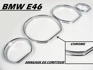 CONTOURS CHROME CADRAN JAUGE COMPTEUR TABLEAU DE BORD BMW E46 SERIE 3 98-06 M M3 | eBay