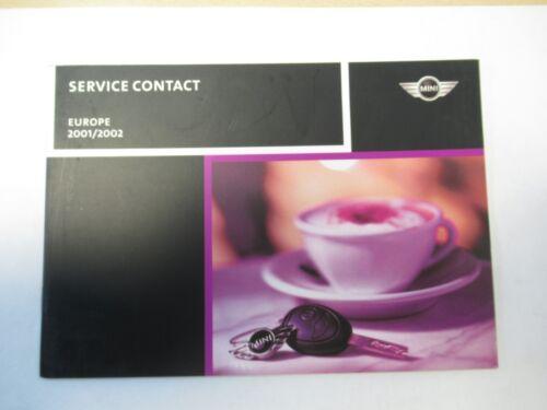MINI BMW R50 R53 Hatchback Hatch Service Contact Handbook 2001-2002 Pre Facelift