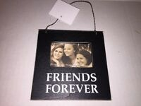 Christmas Friends Forever Hanging Ornament Magnetic Picture Photo Holder