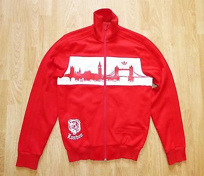 Men's Adidas London Vintage Red Jacket Size Small