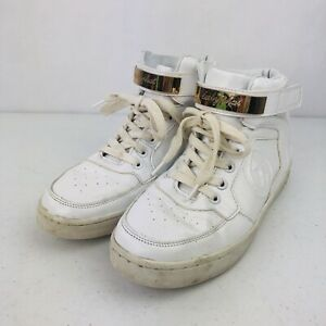 Baby Phat Shoes High Top Gold and White