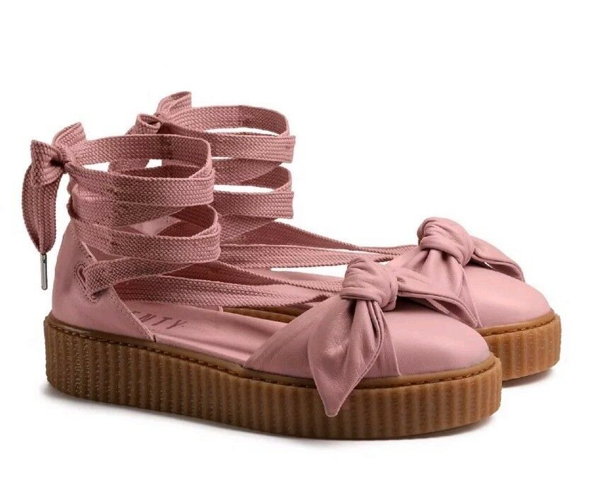 140 Fenty Puma By Rihanna Women Bow Creeper Sandal Pink (365794-01) Sz 8