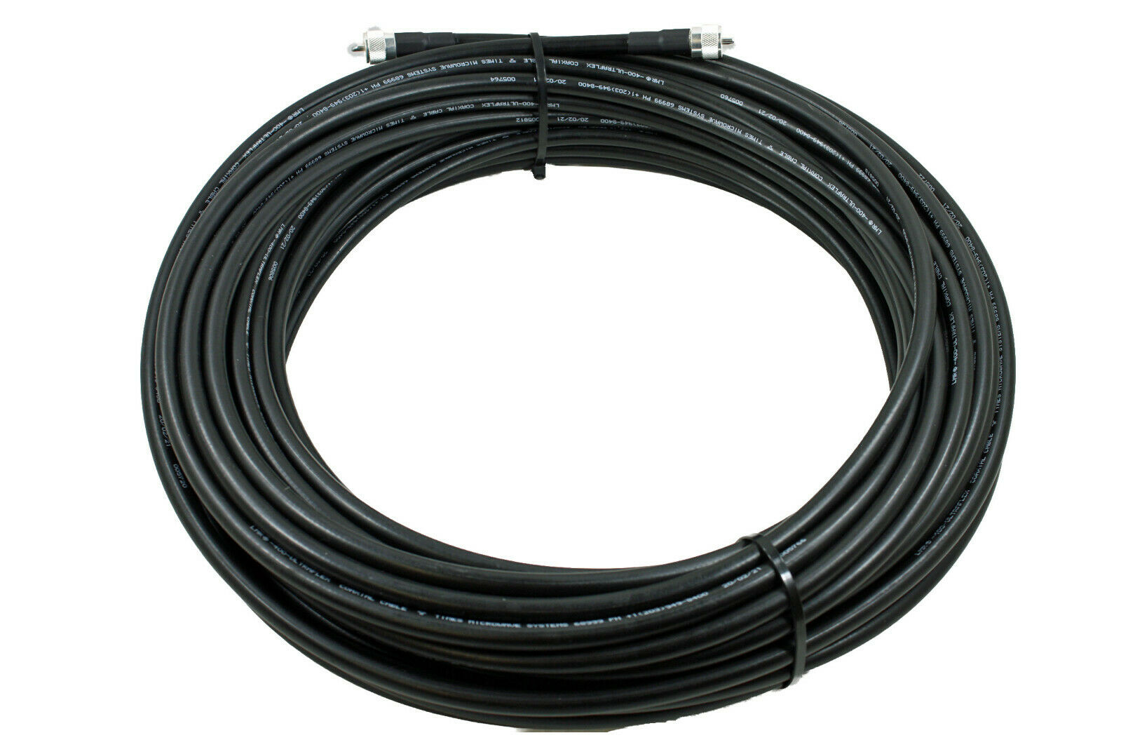 Times Microwave LMR-400UF Ultra Flex Ham & CB Coax Cable 100ft w/PL-259 USA MADE. Available Now for 164.95