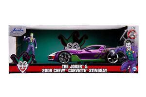 Chevy Corvette Stingray mit Figur Joker DC Comics Movie 1:24 Jada
