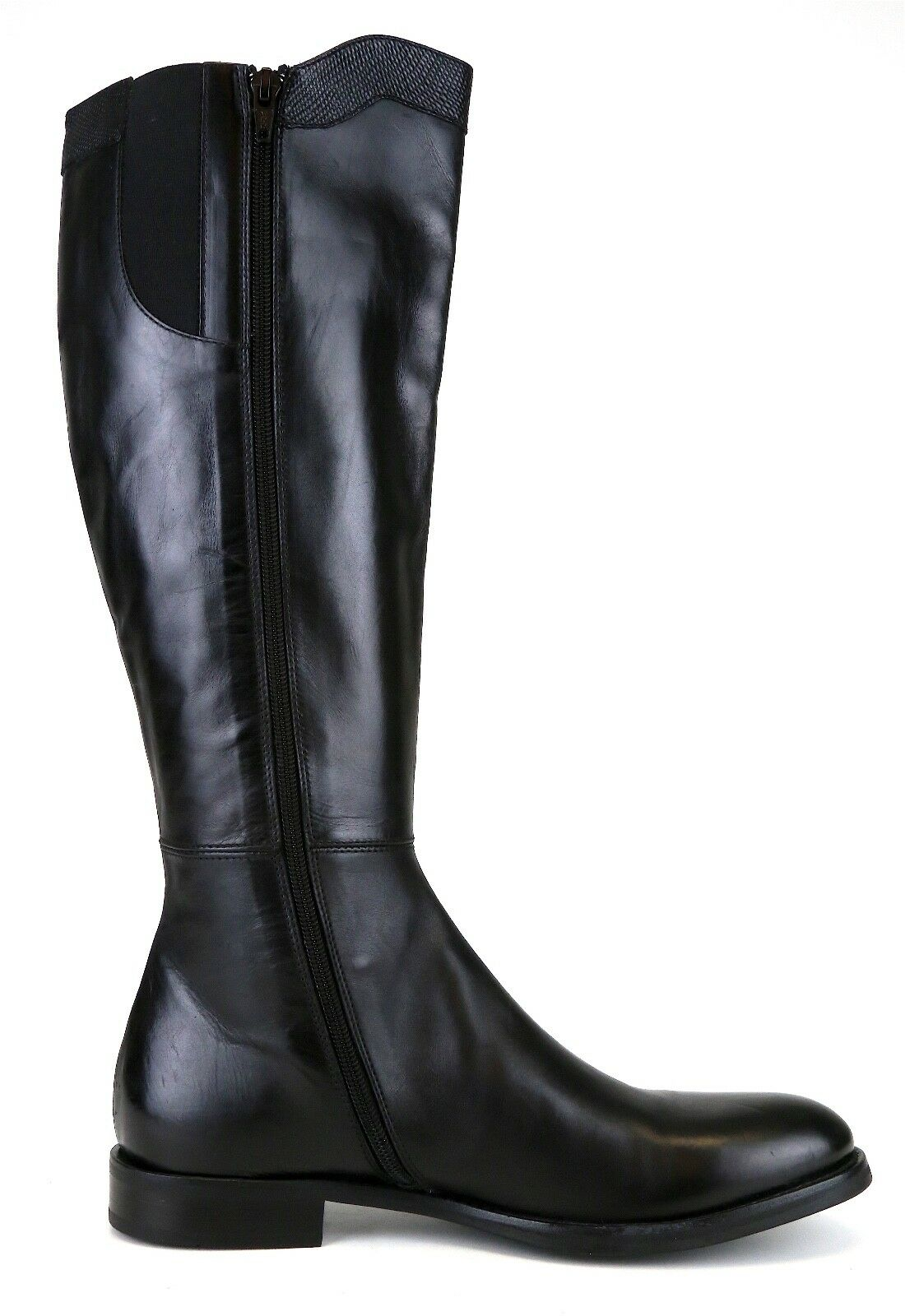 AGL Tall Leather Side Zipper Boot Black Women Women Women Sz 40 EUR 6639  b30821