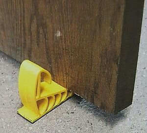 6 PACK NEW GRIPPER DOORSTOP FREE SHIPPING! YELLOW