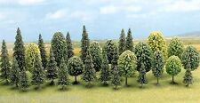 BUSCH 6589 N / TT, Mischwald, 18 Edeltannen, 12 Laubbäume, 30 - 60 mm hoch, Neu