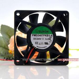 For-Sunon-PMD2407PKB1-A-fan-70-70-20mm-2pin-24V-5-0W