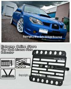 EOS Plate For 04-07 Subaru Impreza WRX STI Front Tow Hook License Mount Bracket