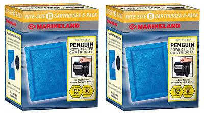 Marineland Rite Size B Power Filter Cartridges - Fits Penguin 125 &150 - 12 pack