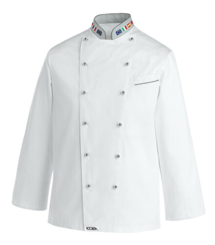 Cook da повар 102017 Egochef Giacca Giacca Jacke Bandiera Шеф bianca cuoco Куртка 8dgtwxawq