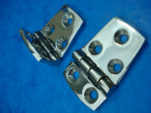 56MM X 38MM OFF SET HINGES PAIR OF STAINLESS STEEL 316