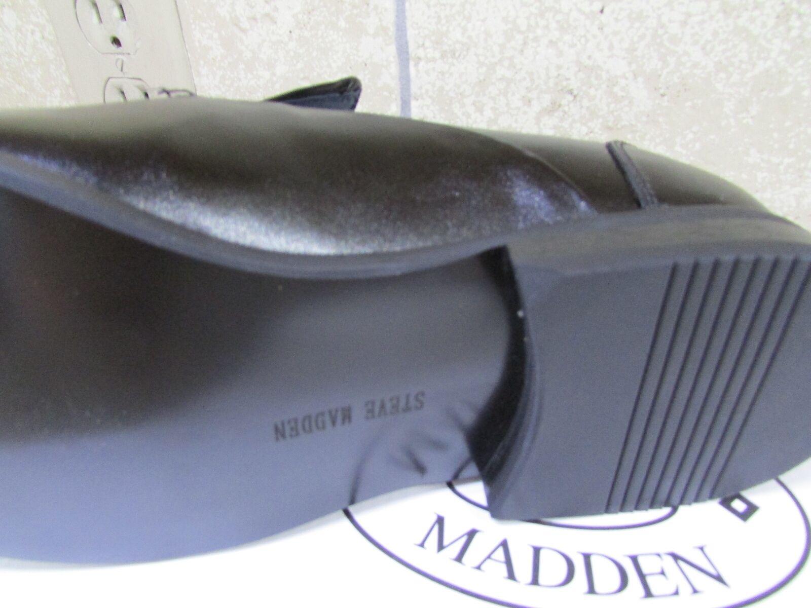 NEW STEVE MADDEN RODDY schwarz LEATHER schuhe MENS 11.5 11.5 11.5 e3032a