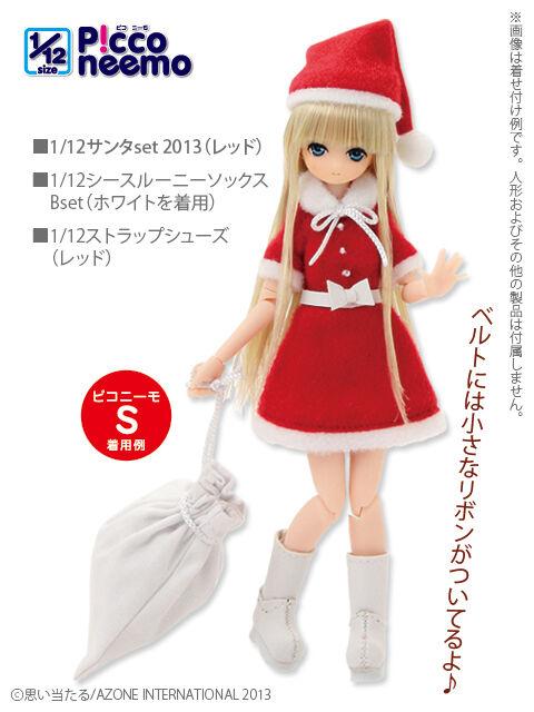 Azone picconeemo Santa Claus Set 2013 Rojo 1 12 14cm Moda Muñeca Navidad