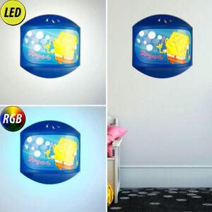 enfants-chambre-LED-mural-luminaire-modulable-Spongebob-Nuit-Lampe-RGB