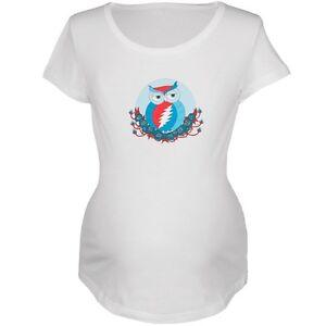 di T bianca maternità Grateful shirt gufo Your Face Steal Dead cP1YZ