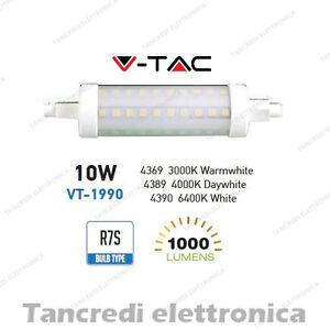 Lampadina-led-V-TAC-10W-60W-R7S-VT-1990-SMD-tubolare-lampadine-faretto-lampada