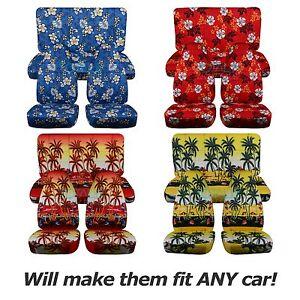Image Is Loading Hawaiian Print Car Seat Covers Full Set Semi