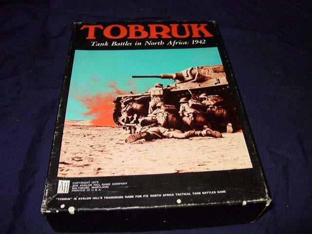 Avalon Hill AH 1975 - TOBRTank Battles in North Africa  1942 (UNPUNCHED)  1