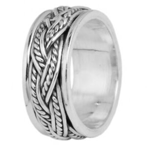 Twisted-Band-925-Sterling-Silver-Meditation-Spinner-Ring-Spinning-Band-All-Size