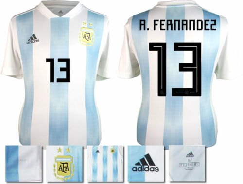 A. FERNANDEZ 13 ARGENTINA HOME 2018 WORLD CUP ADIDAS SHIRT SS = ADULTS