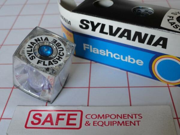 Candide Sylvania Flashcube 3-pack Boîte 12-flashes Bleu Pois Original Flash Cube Mm-369