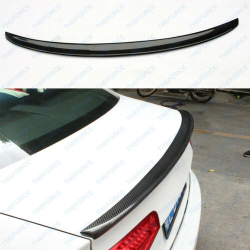 Real Carbon Fiber Rear Trunk Spoiler Wings Fit For Audi A6 C7 2012-18 TSY02//461