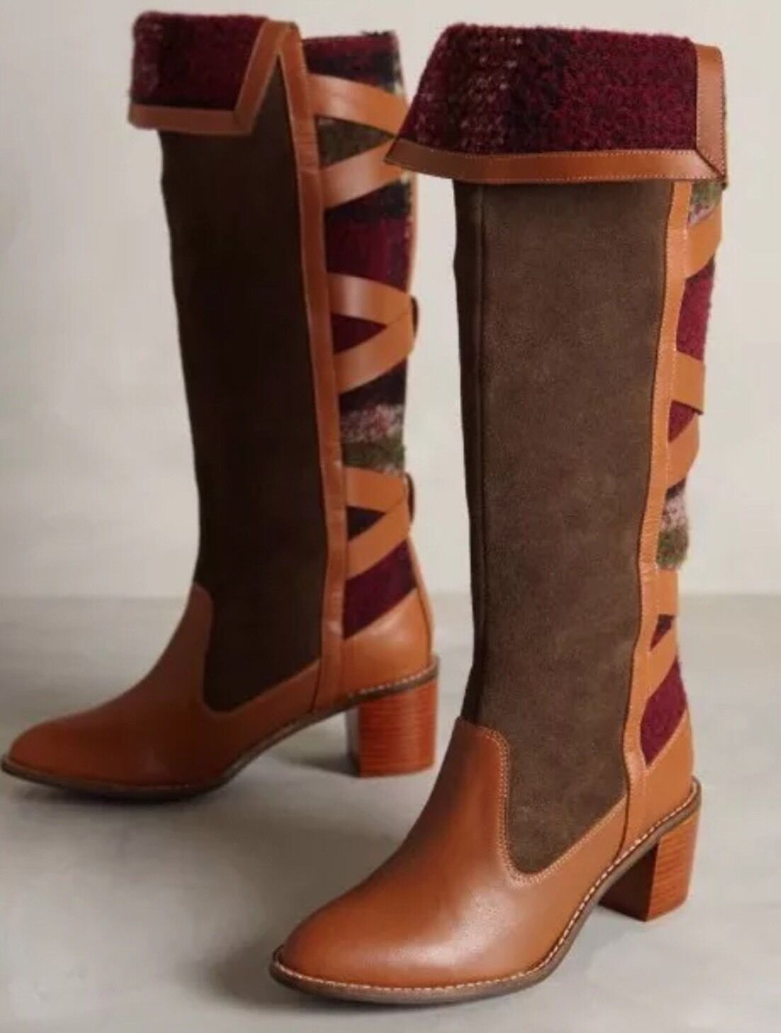 Nuevo anthropologie botas trigo Ridge botas anthropologie Talla 5 f8bd85