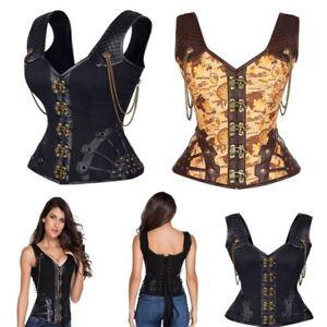 halloween steampunk warrior corset leather waist up