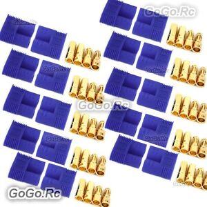 10 PAIR Male & Female RC EC3 Lipo Battery Connector Gold Bullet Plug - EC3x10