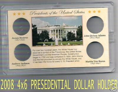 NEW ITEM!! 2008 4x6  PRESIDENTIAL DOLLAR HOLDER