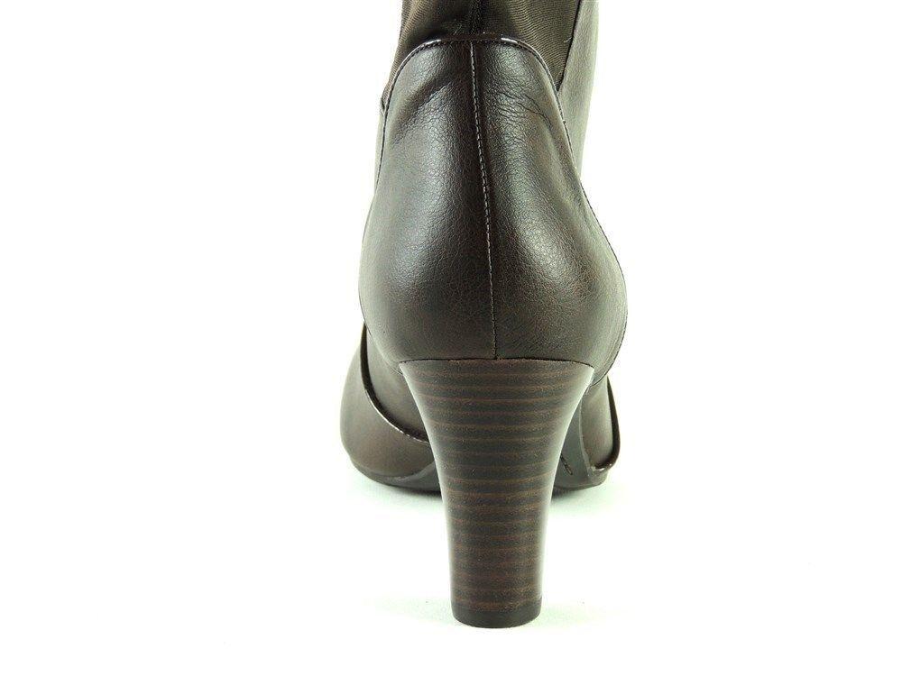 Easy Spirit para mujer Vestido de alto alto alto Delmar YT Botas Marrón Oscuro M d16272