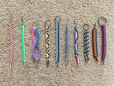 Handmade Boondoggle Keychains//Birthday Party Favors//Baby Shower Keepsakes//Gifts