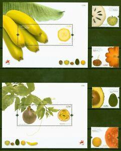 Madère 2009-fruits Fruits-guave Banane Avocado-nº 291-94 + Bloc 42+43 **-afficher Le Titre D'origine MatéRiaux De Qualité SupéRieure