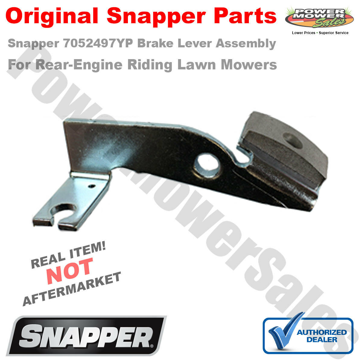 Genuine Snapper Brake Lever Assembly Part 7052497yp 52497 Ebay Lawn Mower Engine Diagram Norton Secured Powered By Verisign
