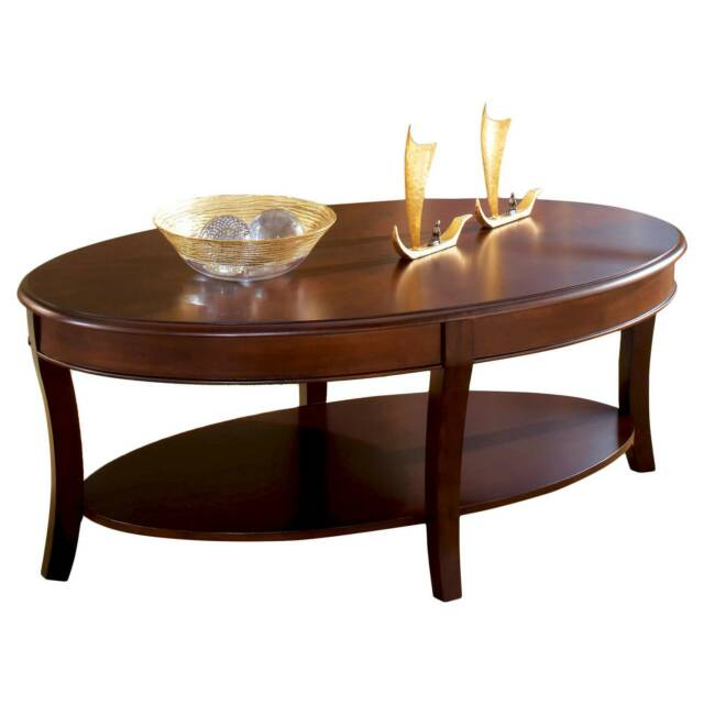 Troy Oval Cherry Wood Coffee Table