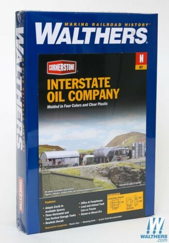 3200 Walthers Cornerstone Interstate Fuel & Oil N Scale