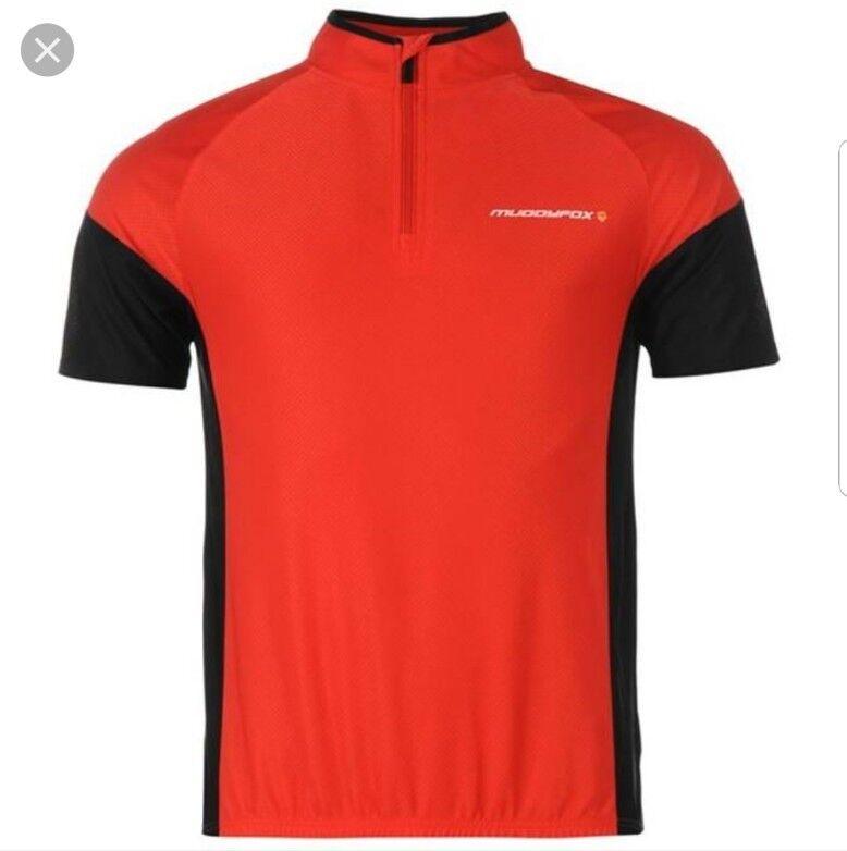 '  Muddy Fox Ciclismo in jersey uomoica corta Top Rosso Taglia XXXL