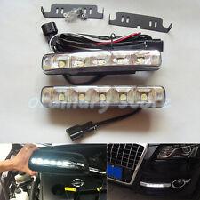 1 Pair Super Bright 5 LED 15W Car DRL Daytime Running Light Driving Fog Lamp